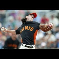 Tim Lincecum of the SF Giants (and my favorite player, next to JT Snow, Buster Posey, Moises Alou, and Brian Wilson of course)