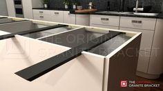 Hidden Island Support Bracket for kitchen countertops by The Original Granite Bracket