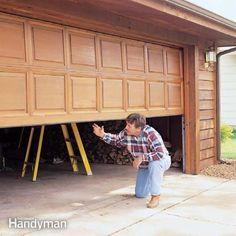 an annual garage door tune-up helps ensure reliable, quiet operation and safety. each step of the tune-up takes 10 minutes or less and is worth it to keep your garage door in good working order. Garage, ideas, man cave, workshop, organization, organize, home, house, indoor, storage, woodwork, design, tool, mechanic, auto, shelving, car.