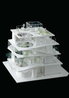 ryue nishizawa - S project - japan - 2008 Japan Architecture, Architecture Drawings, Architecture Portfolio, Concept Architecture, Interior Architecture, Building Architecture, Cubic Architecture, Landscape Architecture Model, Minimal Architecture
