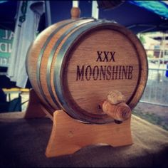 moonshine I plan to have hundreds of these little barrels eventually in a barrel room with the still. Barn Pool, Moonshine Still, Cough Medicine, Redneck Girl, Map Design, Branding Design, Alcohol Content, Western Parties, Hillbilly