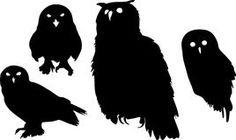 Siluetas de búhos Imágenes de archivo libres de regalías