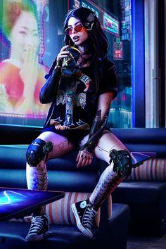 """Einfach erweitert"", Shai Daniel - My Cyberpunk work - News Cyberpunk 2020, Arte Cyberpunk, Cyberpunk Tattoo, Cyberpunk Aesthetic, Cyberpunk Fashion, Cyberpunk Clothes, Neon Aesthetic, Cyborg Art, Character Inspiration"