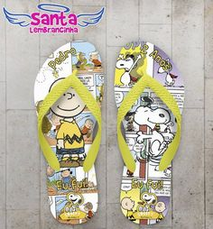 Chinelo Infantil Snoopy Personalizado