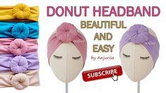 Bun Headband for Babies – Donut Turban – Donut Headband DIY – (DIY, how to make,… – Hair Styles Baby Headband Tutorial, Baby Turban Headband, Diy Baby Headbands, Diy Tops, Creations, Donuts, Crochet, Youtube, Top Knot