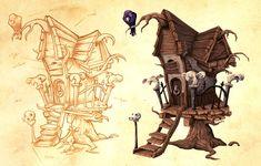 Creepy house: Concept to Final Vector Art