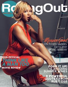 """Meagan Good's gorgeous face and cover pose catches our attention on Rolling Out magazine's latest issue! Check out the """"Think Like A Man Too"""" star's interview with the… Beautiful Black Women, Beautiful People, Beautiful Body, Megan Good, History Icon, How To Pose, Funny Movies, Powerful Quotes, Guys Be Like"""