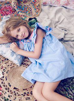 Nellystella Chloe Dress in Chambray