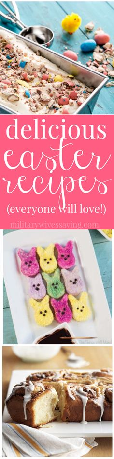 Delicious Easter recipes everyone will love - homemade marshmallow Peeps, Hot Cr. Delicious Easter recipes everyone will love - homemade marshmallow Peeps, Hot Cross Buns, No Churn Robins Egg Ice Cream and MORE! Spring Recipes, Easter Recipes, Holiday Recipes, Dessert Recipes, Easter Desserts, Holiday Ideas, Dinner Recipes, Easter Ham, Easter Dinner