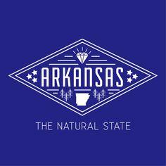 Arkansas logo designed by Tyler Rountree at Rountree Design Co. #logo #logotype #design #graphicdesign #arkansas #artwork #fun