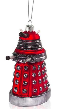 Doctor Who Glass Christmas Tree Ornaments of Dalek & TARDIS