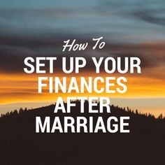 After you get married, it's likely that some of your finances will change. While you don't have to combine your finances, you will want to consider the following http://www.debtfreeafterthree.com/2015/07/08/how-to-set-up-your-finances-after-marriage/