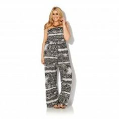 Aztec Printed Strapless Jumpsuit
