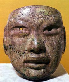 Funerary Mask Olmec from Mexico.
