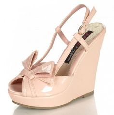 Wedges Patent leather nude  #totsy