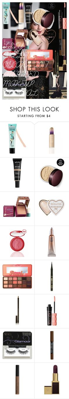 LILY COLLINS OSCARS 2017 INSPIRED MAKEUP TUTORIAL by oroartye-1 on Polyvore featuring beauty, Hoola, Too Faced Cosmetics, Tom Ford, Benefit, tarte, Illamasqua, Urban Decay, NYX and Ardell