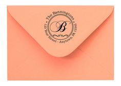 Personalized Custom Made Handle Mounted Return Address and Name Rubber Stamps R65