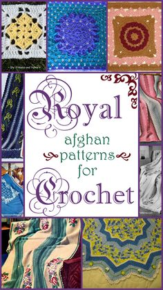 Royal afghan patterns.....afghans and squares...free patterns