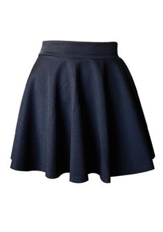 8ffda61361e52 Ninimour- High Waist Retro Skater Mini Skirt Flared Pleated A- Line Short  (Regular Size Fits XS to M