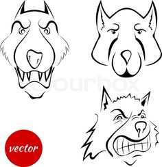Image from https://www.colourbox.com/preview/15259753-set-the-dog-s-muzzle-wolf-isolated-on-white-background-cartoon-beware-the-evil-dog-vector-illustration.jpg.