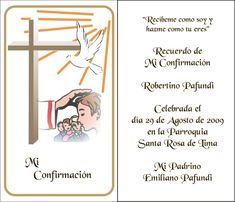 Mundo Grafía: Línea Confirmación Confirmation Cakes, Holy Communion Invitations, First Communion, Kirchen, Diy And Crafts, Baby Shower, Scrapbook, Ideas, World