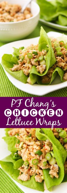 PF Changs Chicken Lettuce Wraps | These delicious little appetizers (or dinners!) are the slimmed down (but JUST as delicious) version of the famous chicken lettuce wraps from PF Changs.