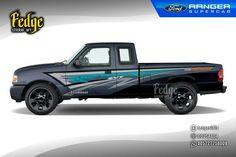 "Wrap design for Ford Ranger Supercab. Original design by Alip Yuli ""Fedge"""