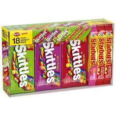 Amazon.com : SKITTLES & STARBURST Full Size Candy Variety Mix, Great For Easter Gift Baskets, 37.05-Ounce 18-Count Box : Grocery & Gourmet Food Halloween Gift Baskets, Birthday Gift Baskets, Easter Gift Baskets, Halloween Gifts, Women Halloween, Halloween Candy, Boyfriend Gift Basket, Valentines Gifts For Boyfriend, Boyfriend Birthday