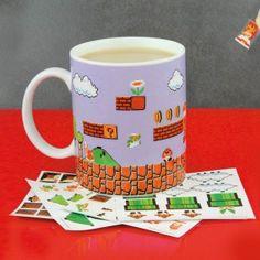 Des autocollants Mario pour stylisé ton mug!