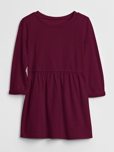 Gap Babies' Always On Essentials Dress Ruby Wine Gap Outfits, Toddler Girl Dresses, Fall Photos, Special Occasion Dresses, Tunic Tops, Long Sleeve, Essentials, Sleeves, Clothes