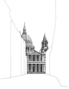 Minty Sainsbury is a London based Artist specialising in architectural pencil drawings. Shop limited edition signed prints on her online store. Architecture Drawing Art, Conceptual Architecture, London Architecture, Landscape Architecture, Cityscape Drawing, Cityscape Art, Pantheon Paris, Building Sketch, Glasgow School Of Art