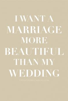 <3 Marriage is more important than the wedding.
