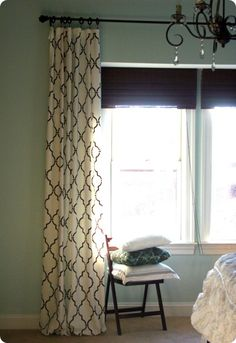 ballard knock off stenciled curtains - could be just what the family room drapes need