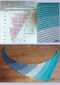 "Dragon shawl crochet - scialle ""coda di drago"" all'uncinetto - Pattern"