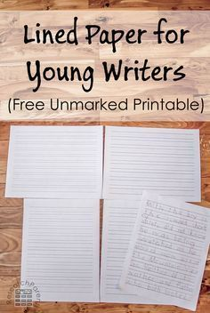 winter snow lined writing paper larger lines for little  lined paper for young writers