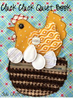 Riley Blake Designs -- Cutting Corners: Cluck Cluck Quiet Book Page #rileyblakedesigns #quietbook #tutorial