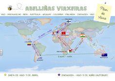 plan de viaxe Madagascar, Map, How To Plan, Zaragoza, Uruguay, Colombia, Boats, Butterflies