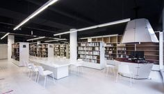 Our #Lottus chairs, designed by #LievoreAltherrMolina, at the Médiathèque du Bourget. Project by Randja – Farid Azib Architects.  #design #architecture #Bourget #France #Interiordesign #hospitality #libraries #contract