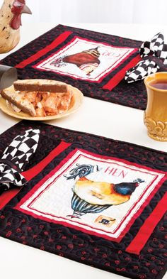 Jennifer Garant French Hens placemats in Quilter's World October 2012 issue