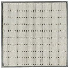 AGNES MARTIN Kyrie signed and dated 62 on the reverse oil, ink, graphite and nails on canvas 10 x 10 in. x cm. Minimalist Painting, Minimalist Art, Agnes Martin, Deco Paint, Barnett Newman, Math Stem, Colour Field, Textile Patterns, Textiles