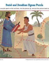 David And Jonathan Bible Activity Sheet From Daniellesplace