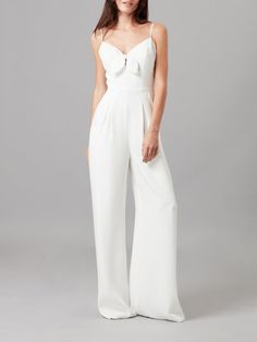 Chiffon Jumpsuit from VENUS women's swimwear and sexy clothing. Order Chiffon Jumpsuit for women from the online catalog or White Romper, White Jumpsuit, Wedding Trouser Suits, Celebrity Fashion Outfits, Satin Pajamas, Sheer Chiffon, Lace Bodice, Jumpsuits For Women, Dream Dress