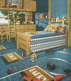 home style from the 1940s | 1940s Childrens Bedroom. Photo Credit: Image: Creative Commons License ...