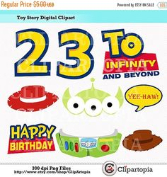 T. Story Digital Clipart/ Toy STory Imprimibles para Fiesta