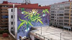Break through the matrix, find each other anew... a mural by MONA and LIQEN in Vigo, Spain. Take a look up close!
