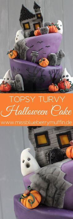 Halloween Motivtorte // Topsy Turvy Cake <3