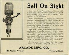 Crystal coffe arcade grinder vintage