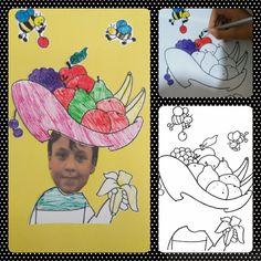 Meyve tabağı şapkam :) - Okul Öncesi Etkinlik Kaynağınız