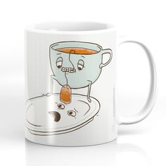 Coffee Mugs featuring Tea Baggin' by Phil Jones Funny Coffee Mugs, Coffee Humor, Funny Mugs, Funny Gifts, Coffee Gifts, Coffee Quotes, Phil Jones, Buy Tea, Cool Mugs