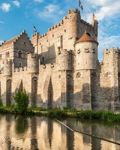 Castle of Gravensteen in Ghent Belgium